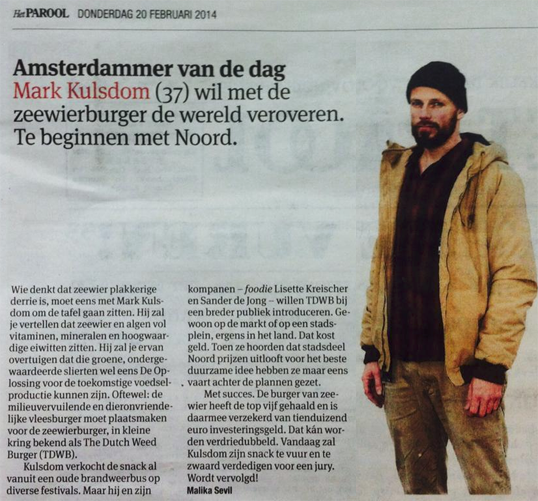 Dutch Weeburger in het Parool 02-2014