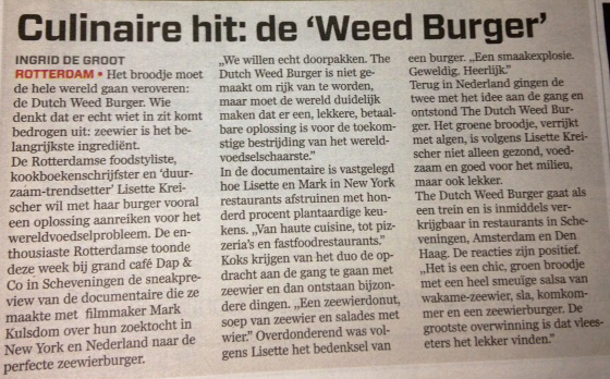 The Dutch weedburger: een culinaire hit!